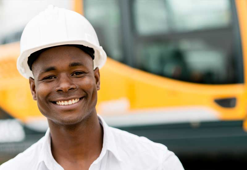 Image of Construction Worker Smiling
