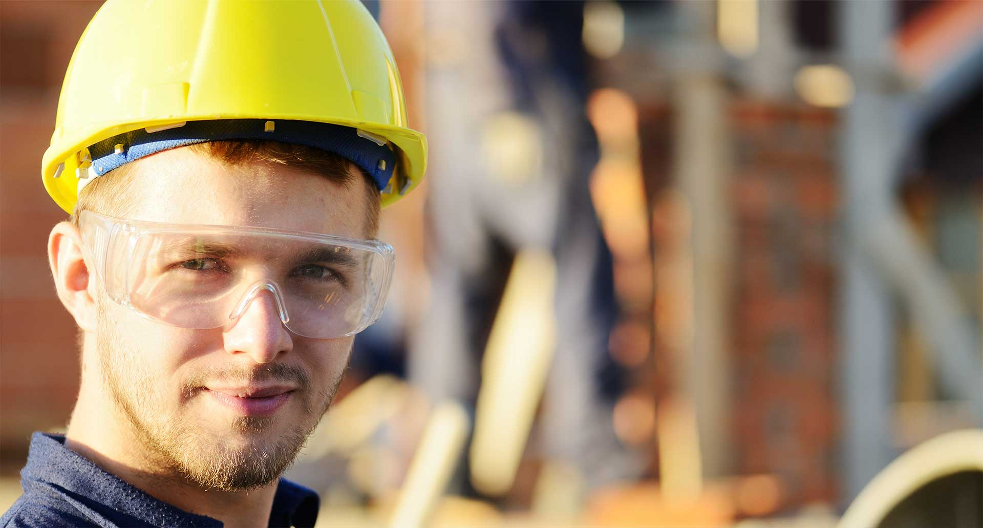 Superior Scaffolding & Insulation, Inc. Image of Construction Worker with Safety Glasses Ready to Work