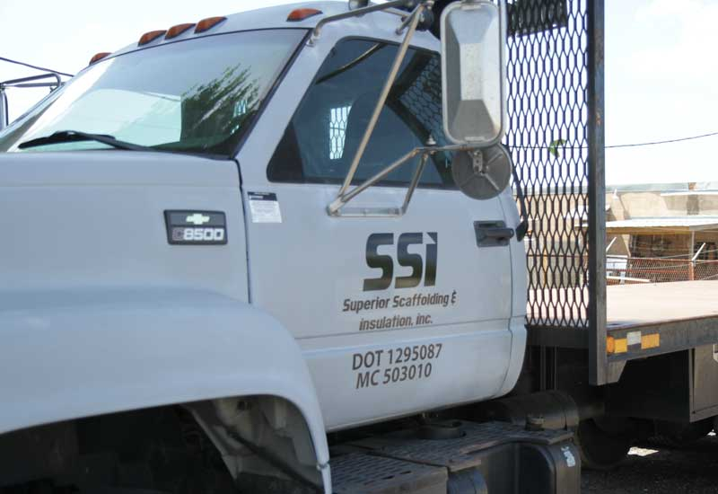 Superior Scaffolding & Insulation, Inc. Image of White Truck Parked