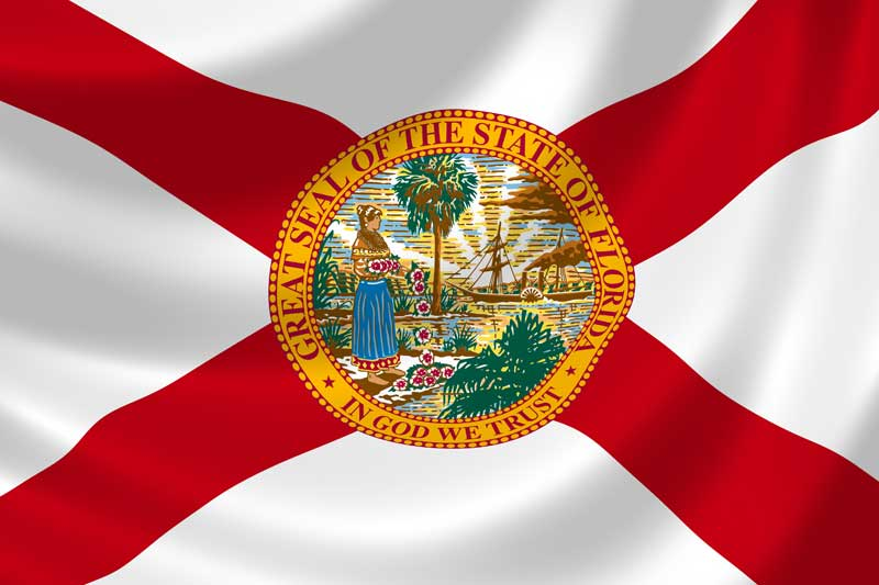 Image of State of Florida with Seal